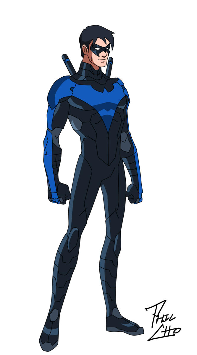Nightwing  Dick Grayson Blue by phil-choDick Grayson New 52 Nightwing