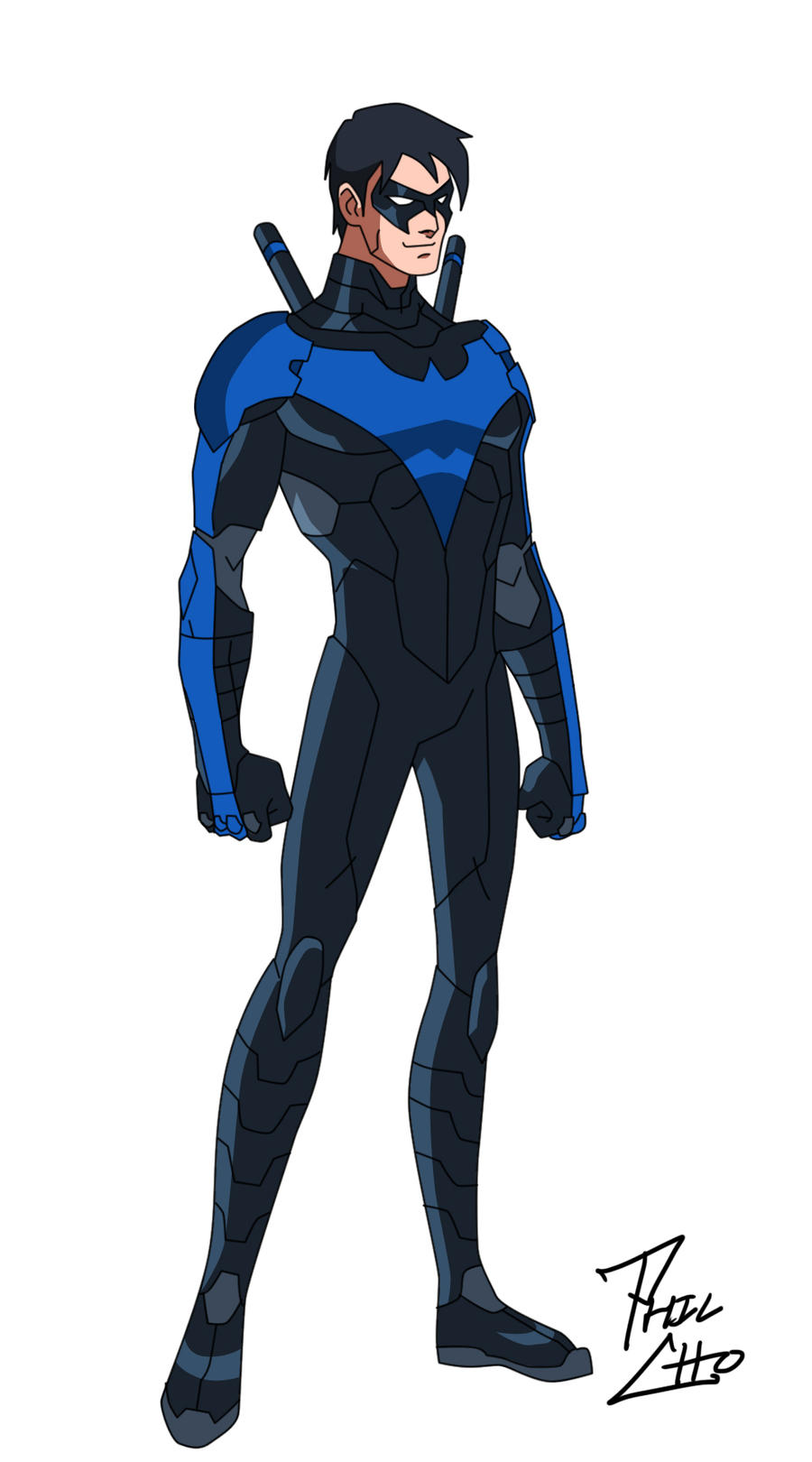 Nightwing Dick Grayson Blue By Phil Cho On DeviantArt