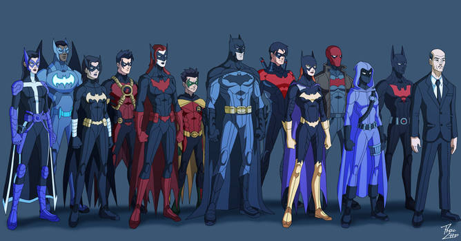 Bat Family: Gotham Crusaders by phil-cho