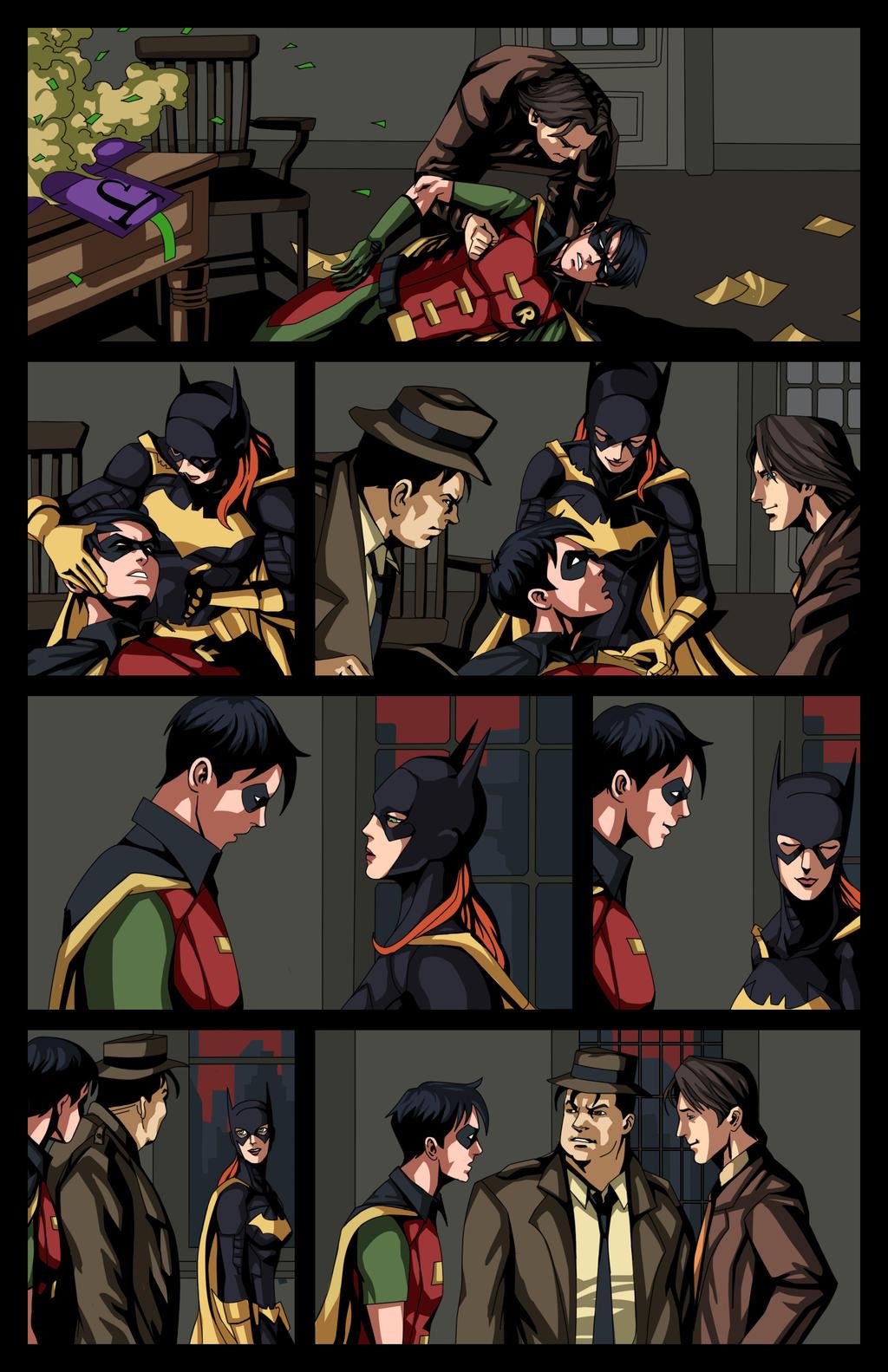 Robin meets Batgirl by phil-cho