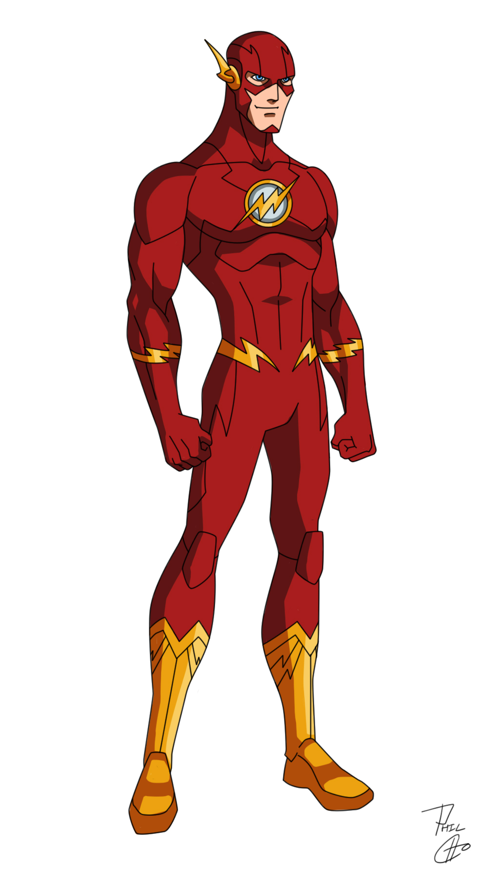 JL Roster The_flash___new_52_by_phil_cho-d67qbhw