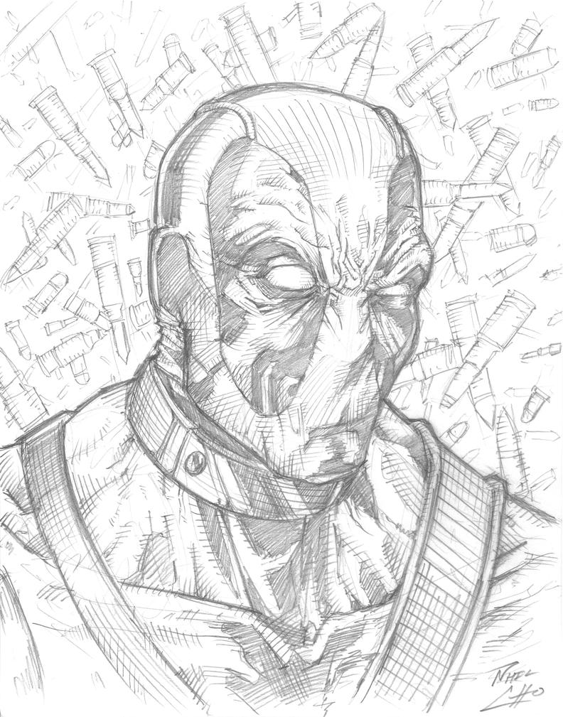 BCC 2013 Deadpool Drawing by phil-cho