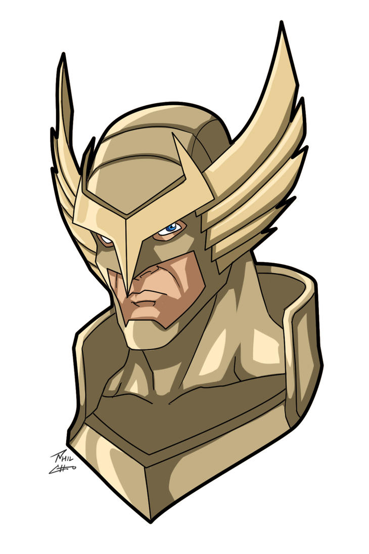 Golden Glory head bust commission by phil-cho