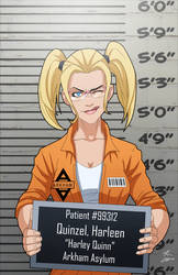 Harleen Quinzel locked up by phil-cho