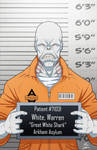 Warren White locked up