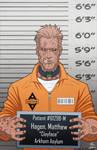 Matt Hagen locked up