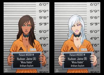 Jaina Hudson And White Rabbit locked up