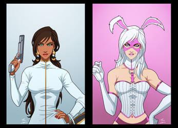 Jaina Hudson And White Rabbit