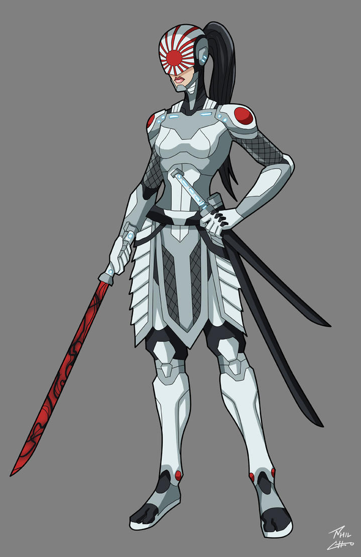 Eagle Vs Dragon Drawing Katana redesign commis...