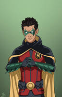 Robin 5.0 (Damian Wayne) commission by phil-cho