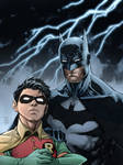 Batman and Robin (inks by Jim Lee, colors by me)
