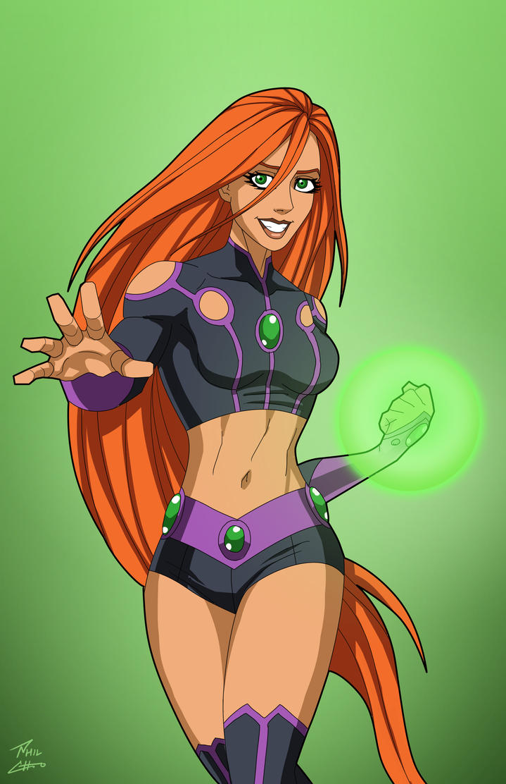 Starfire (Earth-27) commission by phil-cho