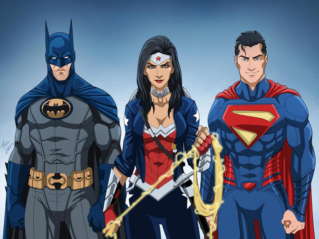 DC Trinity (Earth-27) by phil-cho