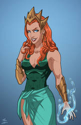 Queen Mera (Earth-27) commission by phil-cho