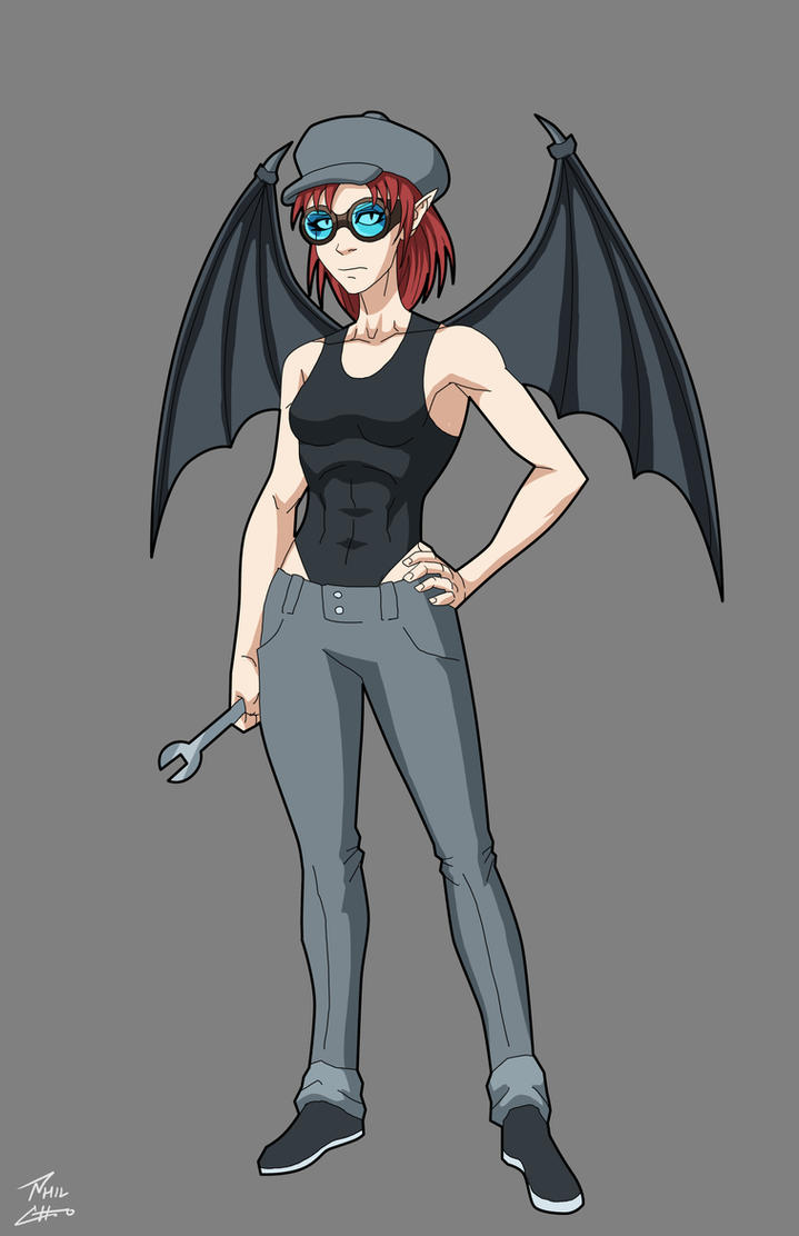 Mel The Unhappy Succubus commission by phil-cho