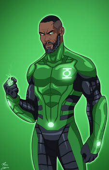 Green Lantern John Stewart (Earth-27) commission