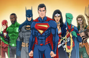 The Justice League (Earth-27) by phil-cho