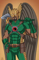 Hawkman (Earth-27) commission by phil-cho