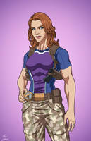 Lyla Michaels-Diggle (Earth-27) commission by phil-cho