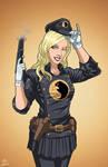 Lady Blackhawk (Earth-27) commission