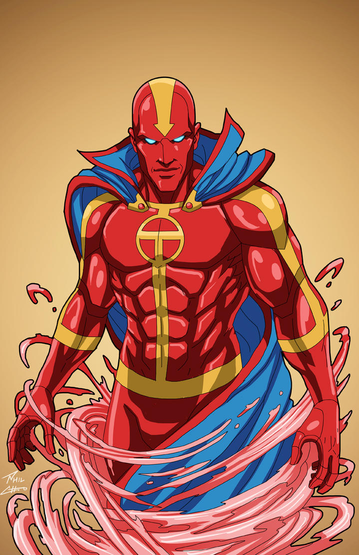 Red Tornado 1.0 (Earth-27) commission by phil-cho on DeviantArt