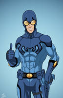 Blue Beetle (Earth-27) commission by phil-cho
