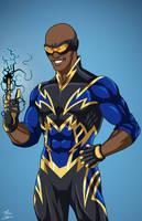 Black Lightning (Earth-27) commission by phil-cho