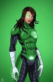 Green Lantern [Jessica Cruz] (Earth-27) commission