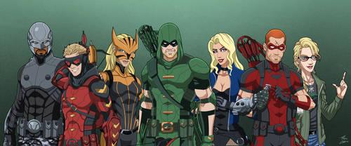 Team Arrow (Earth-27) by phil-cho