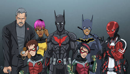 Bat-Family 2027 (Earth-27) by phil-cho