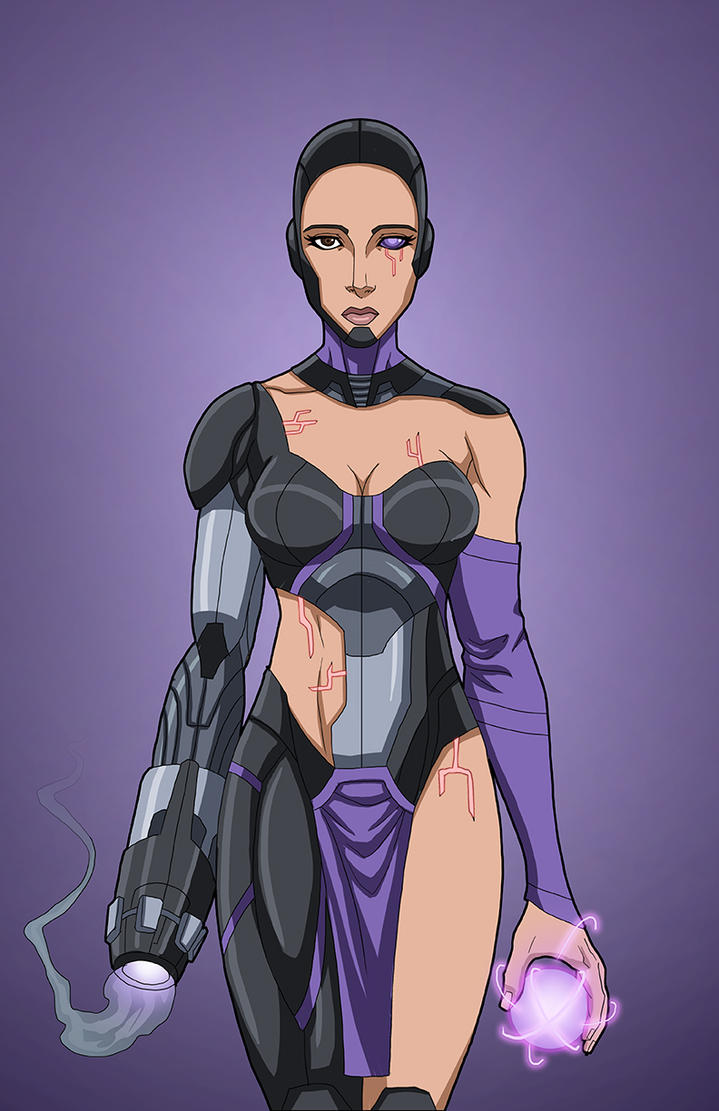 Cyber Witch (Earth-27) OC commission by phil-cho