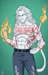 Max MacKay [devil form] (Earth-27) OC commission