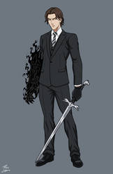 Ethan Raeburn - Black Sinclair OC commission