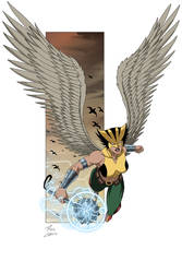 Hawkgirl commission by phil-cho