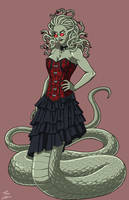 Medusa the Gorgon (NeOlympus) commission by phil-cho