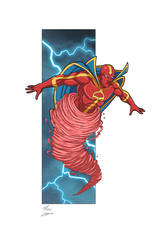 Red Tornado commmission by phil-cho