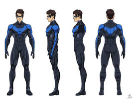Nightwing turnaround commission by phil-cho