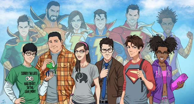 Shazam Family v.2 (Earth-27) by phil-cho