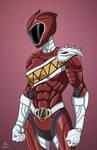 Bergundy Pterodactyl Ranger commission