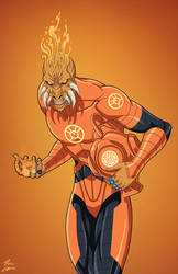 Larfleeze (Earth-27) commission by phil-cho