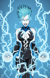 Livewire (Earth-27) commission by phil-cho