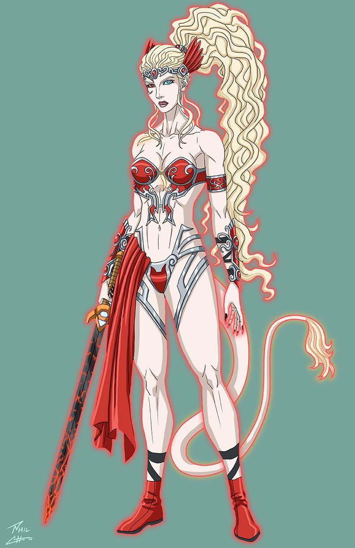 Ellie Infernal Armor Devil OC commission