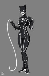 Catwoman Tron commission by phil-cho