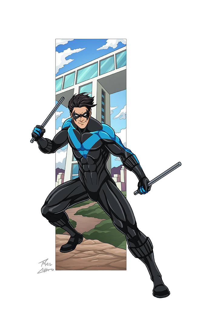 Nightwing commission by phil-cho