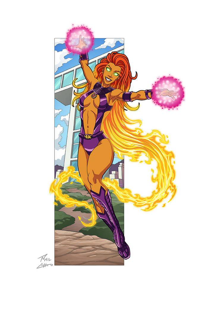 Starfire commission by phil-cho