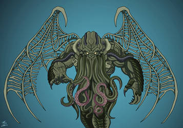Cthulhu commission by phil-cho