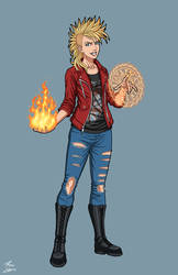 Young Abigail Constantine OC commission by phil-cho