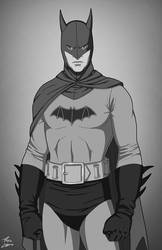 Batman (Lewis Wilson) black and white