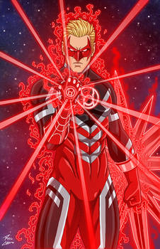 The Red Lantern OC commission