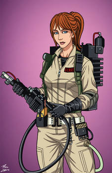 Erin Gilbert [Ghostbuster] (Earth-27) commission